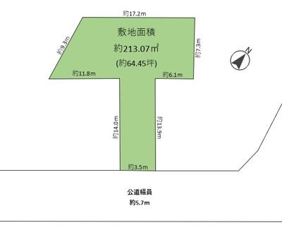 【区画図】三条町 売土地
