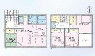 笠松町長池 新築建売 残り1棟 スタイリッシュな外観!インナーバルコニーのあるお家 お車スペース並列2台可能