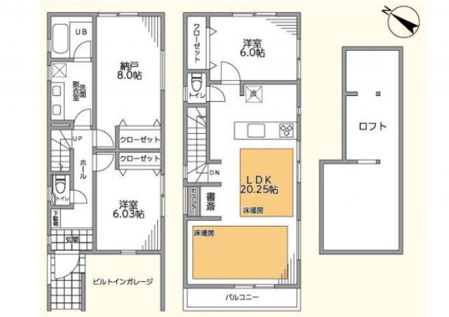【間取り】駅6分!建物105㎥の新築戸建て