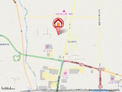 【地図】第82杉フラット