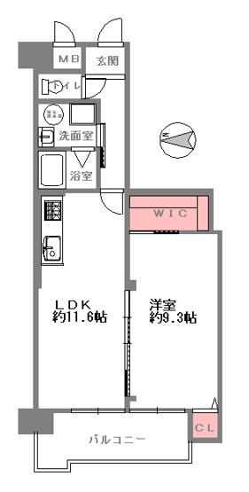 1LDK、価格1750万円、専有面積51.24㎡、バルコニー面積7.31㎡