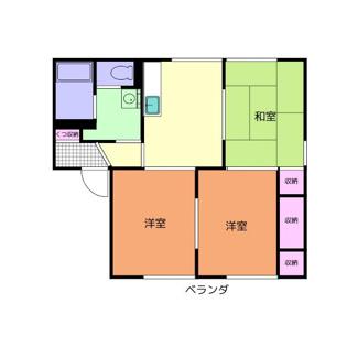 同棲・家族向けの3DKの賃貸アパート!