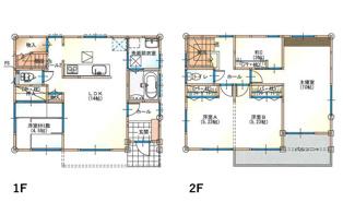 ファミリープラン 建物プラン例 建物面積104.34㎡ 建物価額1630万円