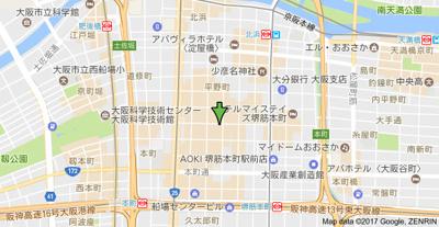 【地図】アーバンフラッツ瓦町(旧エスティメゾン瓦町)