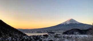 土地周辺からみた冬の富士山