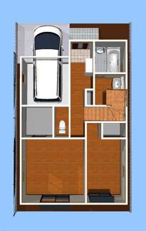 室内パース図 1階
