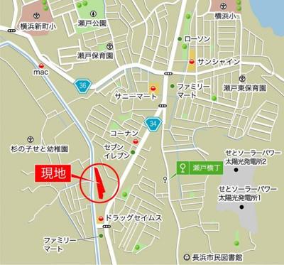 【地図】高知市瀬戸南町