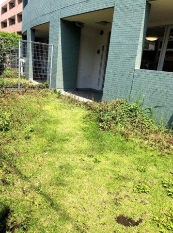 レックスガーデン青井アールステージ:約25.95平米の専用庭が付いております!