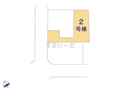 【区画図】リナージュ 新築戸建て 羽生市北20-1期-全3棟-
