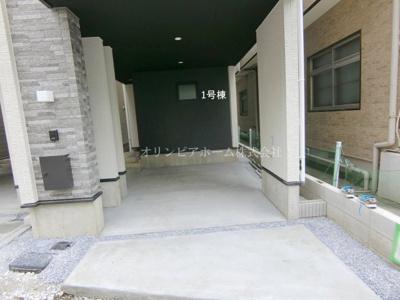 【外観パース】新築戸建 墨田区 向島4丁目 所有権17.37坪 4LDK 1号棟