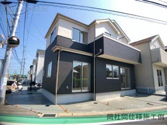 同社同仕様施工例です。JR総武線「津田沼」駅バス21分三山停歩5分の全4棟の新築一戸建てです。京成本線京成大久保駅までは徒歩26分です。