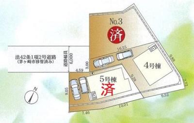 【区画図】茅ヶ崎市香川2丁目 新築一戸建