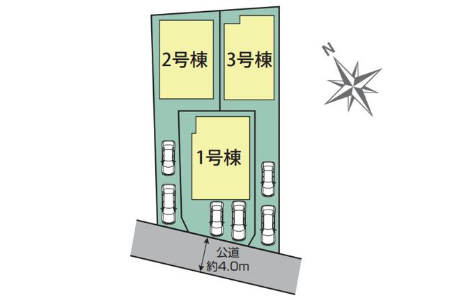 【区画図】新築 茅ヶ崎市甘沼 1号棟