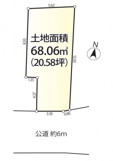 【区画図】新宿区高田馬場3丁目 限定1区画