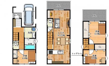 【間取りプラン】 自由設計対応!ご家族の理想のマイホームを実現できます!