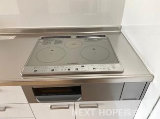 オール電化住宅でキッチンコンロはIHです♪お手入れも楽ですね♪安心・安全です(^^)