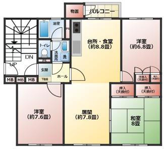 それぞれゆとりあるお部屋になりますので広々とおくつろぎ出来ます!