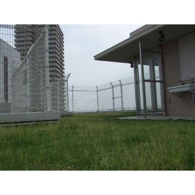 芝生の緑化屋上のあるマンションです