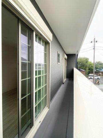 【バルコニー】新築一戸建て「開成町延沢」全3棟/残3棟