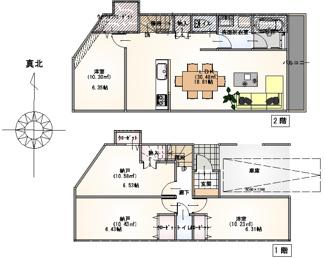 建物面積:107.34平米・建物価格2100万円