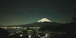 土地周辺からみた富士山と夜景