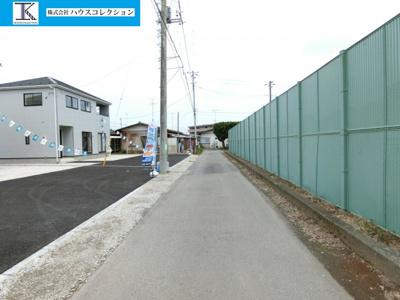 【前面道路含む現地写真】土浦市東真鍋町第4 新築戸建 全2棟