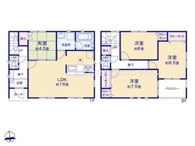 【区画図】土浦市東真鍋町第4 新築戸建 全2棟