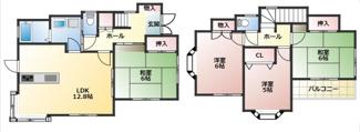 全室南向きで日当たり良好!各居室収納スペースあり!