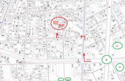 【地図】北畝売地