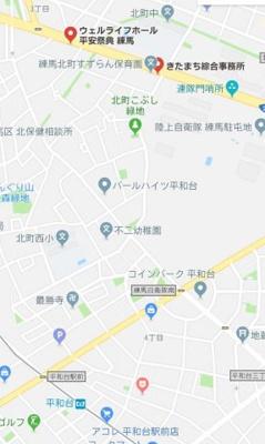 【地図】THEパームス東武練馬
