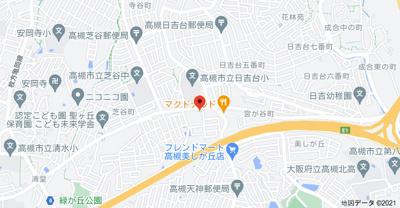 【地図】藤和コアティ高槻ハイタウンA棟