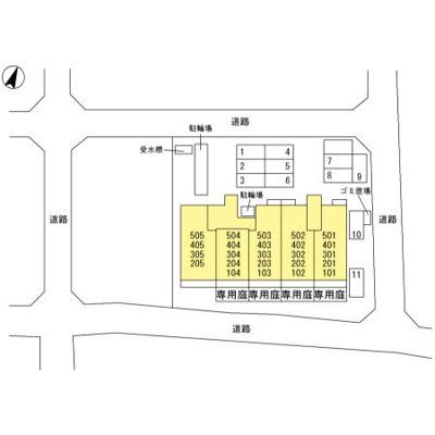 【区画図】コーポレート東浦和1号棟