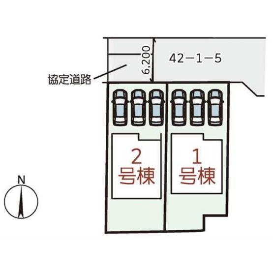 【区画図】橿原市縄手町3期 新築(全2棟)2号棟