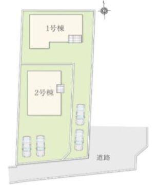 2号棟 カースペース2台以上可能です。本日、建物内覧できます(^^)/住ムパルまでお電話下さい!