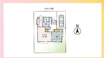 【区画図】土浦市桜ケ丘町 中古戸建