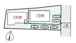 【区画図】大和高田市築山3期 新築(全2棟)1号棟