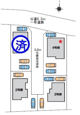 【区画図】高崎市上小鳥町 2号棟