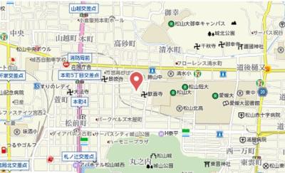【地図】ウィンズ清水