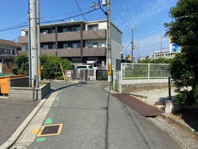 【前面道路含む現地写真】堺市北区百舌鳥西之町 売地