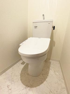 洗浄機能付きのトイレです。