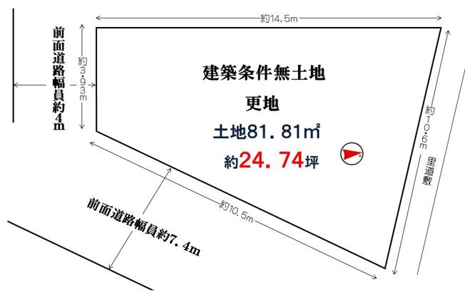 【土地図】堺市北区百舌鳥梅北町5丁(百舌鳥小学校)