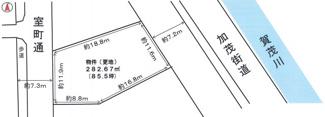 【土地図】北区小山東元町売土地