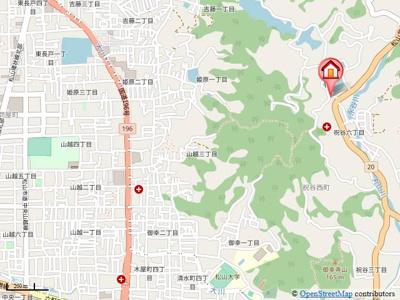 【地図】プロムナード祝谷