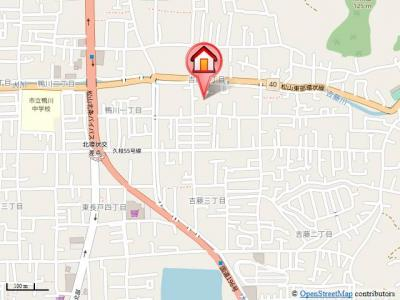 【地図】パルシャス野本Ⅱ