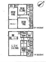 【区画図】新築 全2棟 加茂市柳町4LDK 2号
