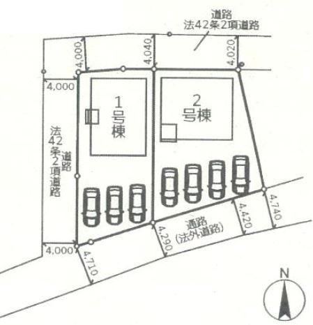 【区画図】桐生市宮前町 2号棟