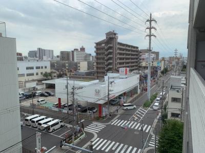 物件からの眺めです。街並みが見えます。