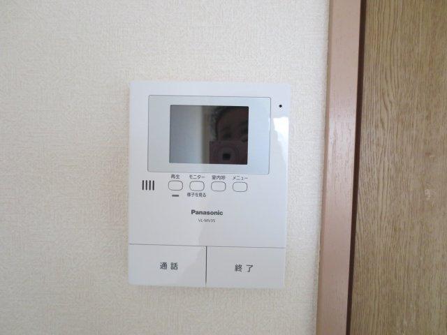 TVモニター付きインターホン。