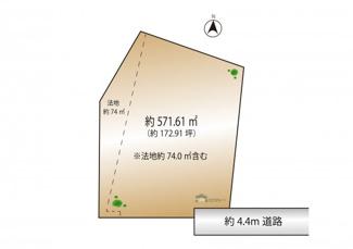 【土地図】大田区山王3丁目 建築条件なし土地