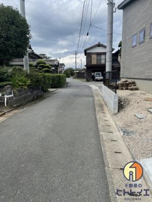 【前面道路含む現地写真】城島町楢津新築住宅